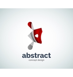 abstruse shape logo template vector image