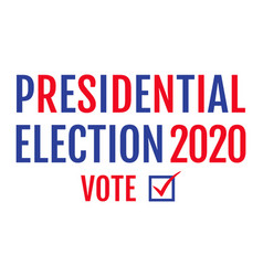 american election 2020 vector image