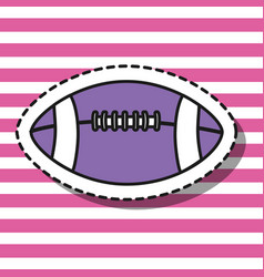 american football ball patch design vector image