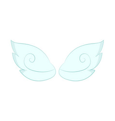 Angel wings white feathers isolated object vector