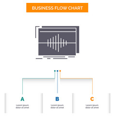 Audio frequency hertz sequence wave business flow vector