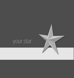 Background with a star in shades of gray vector