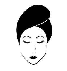 Beauty female vector image