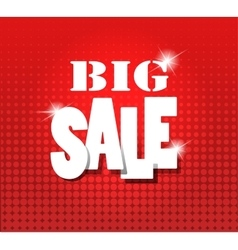 Big sale over red grunge background vector image