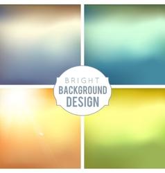 Blur Background Set vector image
