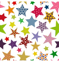 Bright colored stars Seamless pattern vector image