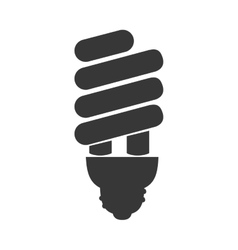 Bulb energy saving light icon graphic vector