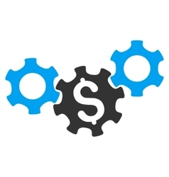 Business Gears Flat Icon vector image