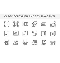 cargo container icon vector image