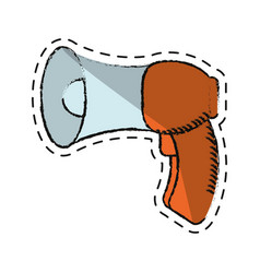 Cartoon megaphone loudspeaker sound marketing vector