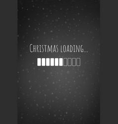 christmas loading bar card or phone wallpaper vector image