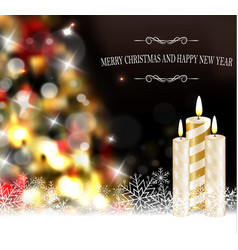 christmas tree light background vector image
