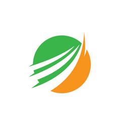 circle arrow business logo vector image