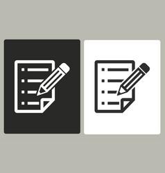 Clipboard pencil - icon vector