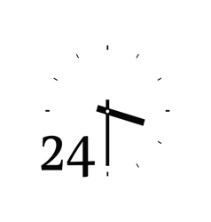 clock cute black vector image