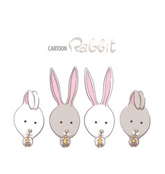 cute funny rabbits vector image