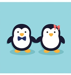 Cute Penguin Couple vector