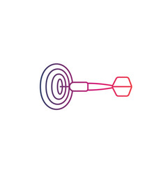 dart arrow and target line icon vector image
