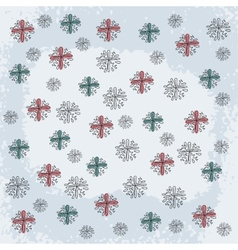 Doodle Snowflake Elements vector image