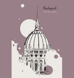 drawing sketch dome hungarian vector image