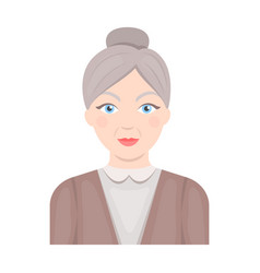 elderly womanold age single icon in cartoon style vector image