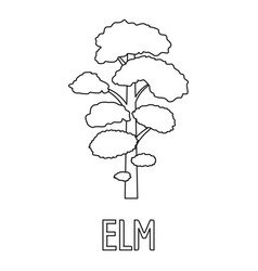 Elm icon outline style vector