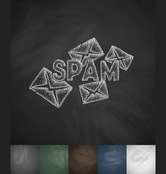 Emails spam icon hand drawn vector
