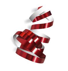 festive ribbon on white background vector image