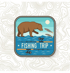 Fishing trip patch concept for shirt or vector