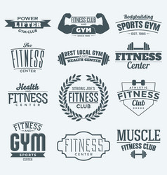fitness logos collection vector image