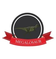 flat icon dinosaur megalosaur vector image