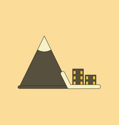 Flat icon stylish background mountain avalanche vector