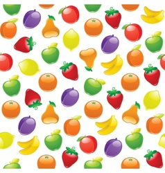 fruit background seamless pattern vector image