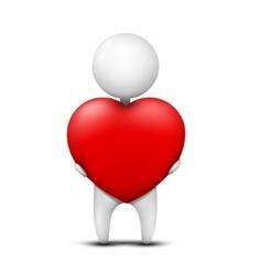 Giving heart vector