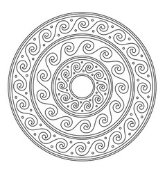 greek stroke mandala ancient vector image
