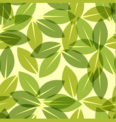 Green leaf spring wallpaper elegant fresh foliage vector
