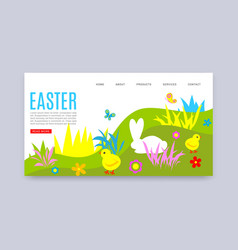 happy easter website tempale vector image