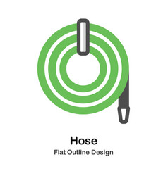 Hose outline flat vector