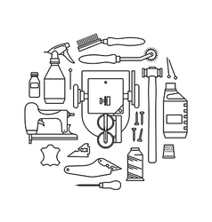 Icons set of furriers tools vector