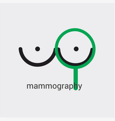 Mammography icon made in minimalist style with vector