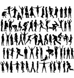 Many people vector