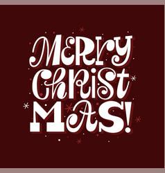 merry christmas modern fun greeting card template vector image
