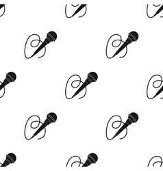 Microphone icon in black style isolated on white vector