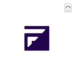 Monogram f initial logo business abstract design vector