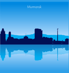 murmansk skyline vector image