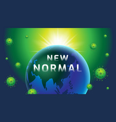 New normal earth banner design template today vector