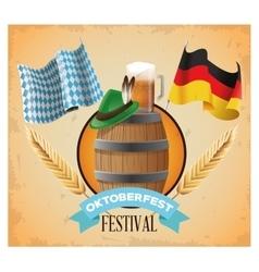 Oktoberfest celebration of Germany design vector image