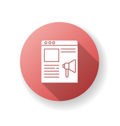 Online campaign red flat design long shadow glyph vector