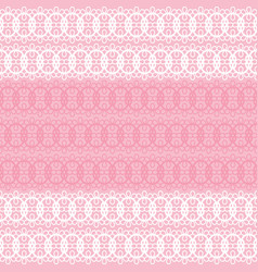 Pastel pink and white lace seamless pattern vector