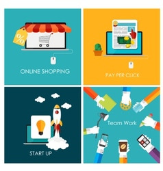 Pay Per Click Online Shopping Business Start Up vector image
